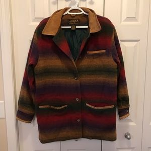 VINTAGE Eddie Bauer Blanket Coat Multicoloured